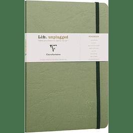 Clairefontaine Age A5 Roadbook Bag, Líneas, 128 páginas, Verde
