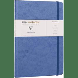 Clairefontaine Age A5 Roadbook Bag, Líneas, 128 páginas, Azul