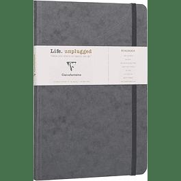 Clairefontaine Age A5 Roadbook Bag, Líneas, 128 páginas, Gris