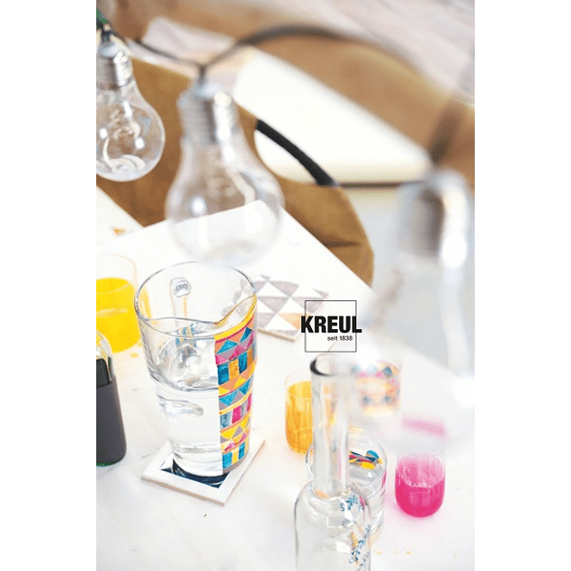 KREUL Glass & Porcelain Clear, 6 frascos de 20 ml cada uno