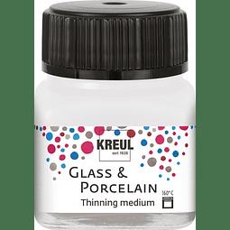 Diluyente de pintura de vidrio y porcelana - 20 ml