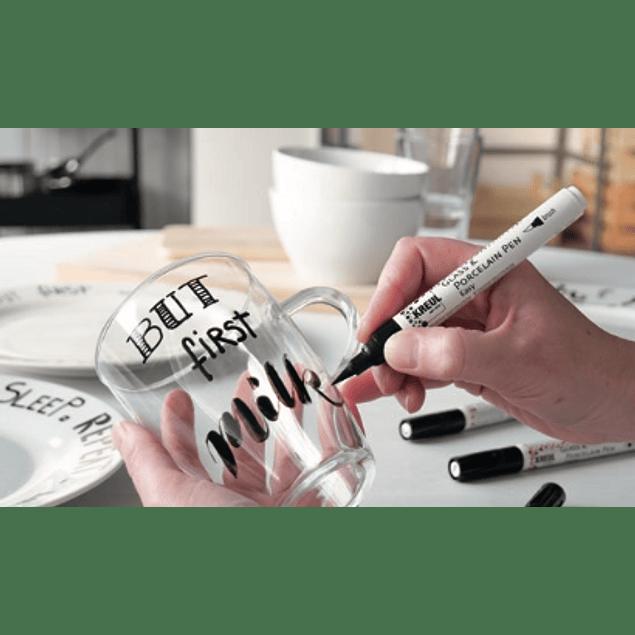Marcador KREUL de vidrio y porcelana Punta pincel, Lettering