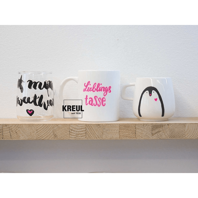 Kreul Marcadores para vidrio y porcelana - Neon (2 tonos)