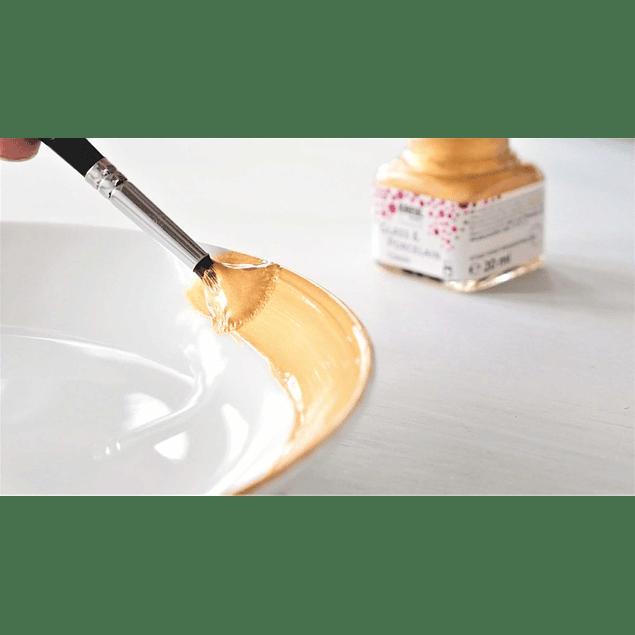 KREUL pintura para vidrio y porcelana pintura metálica, juego de 6 frascos