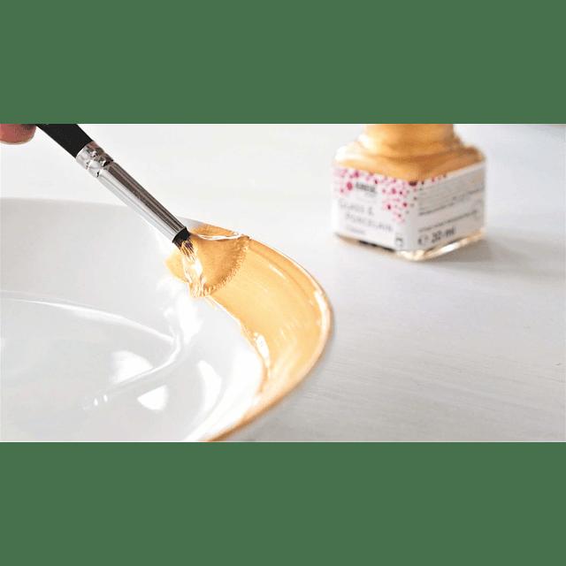 """Set pintura Vidrio y Porcelana """"Set Metallic"""" - 20 ml"""