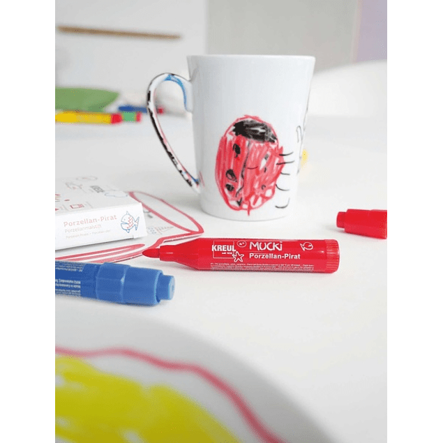 Marcadores MUCKI Kids, Porcelana y Vidrio set de 5