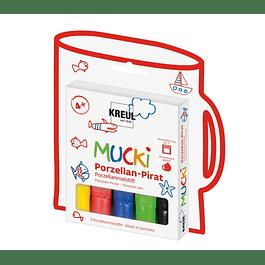 Marcadores Vidrio y Porcelana - MUCKI Kids set básico