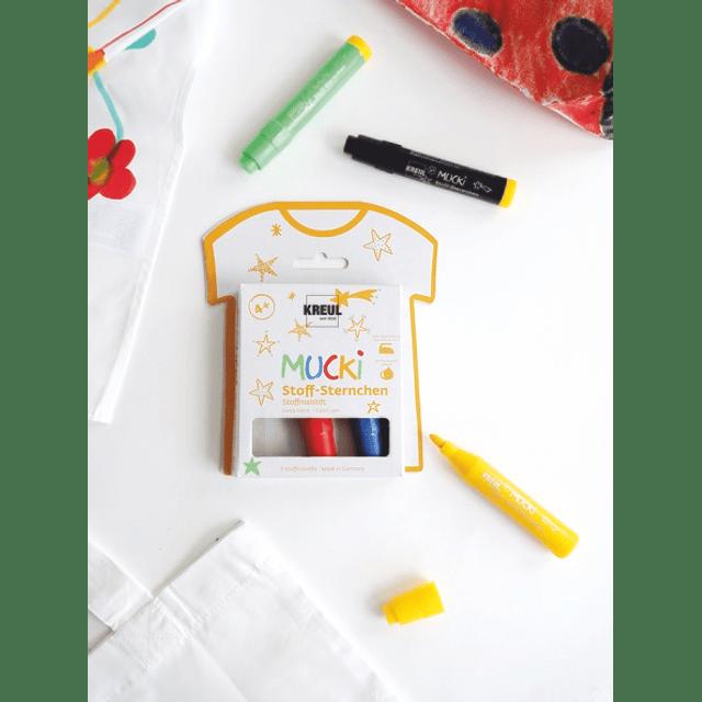 Marcadores Tela - MUCKI Kids set básico