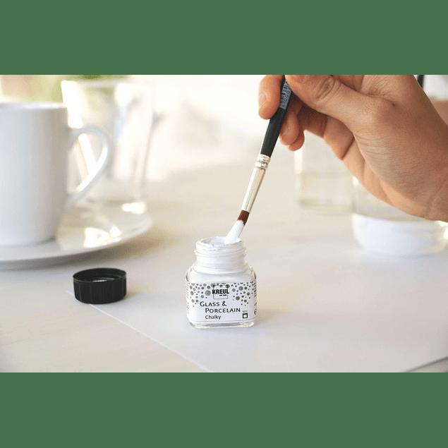 KREUL Glass & Porcelain efecto Tiza - Set Chalky
