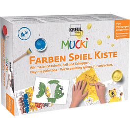 MUCKI Play me paintbox, para pintar animales y escalas de colores.