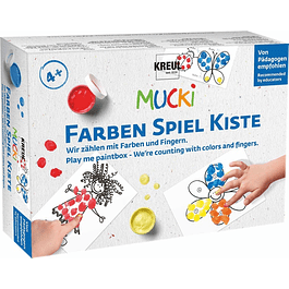 MUCKI Play me paintbox  Contamos con colores y dedos.