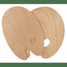 SOLO GOYA Paletas de madera, ovaladas -20x30cm