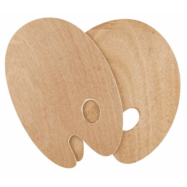 SOLO GOYA Paletas de madera, ovaladas, 20x30cm