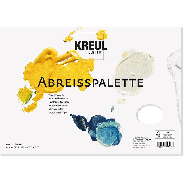 Paleta de papel KREUL Tear-off