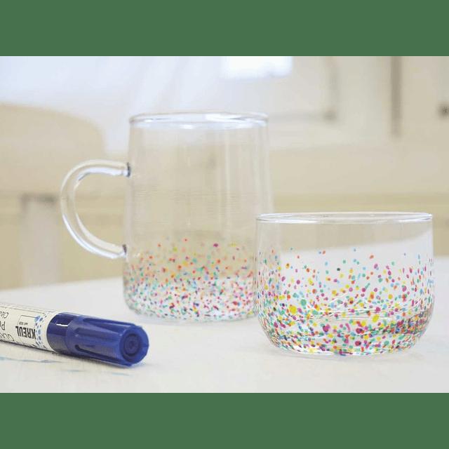 Set de Marcadore para vidrio y porcelana KREUL Clear x 5