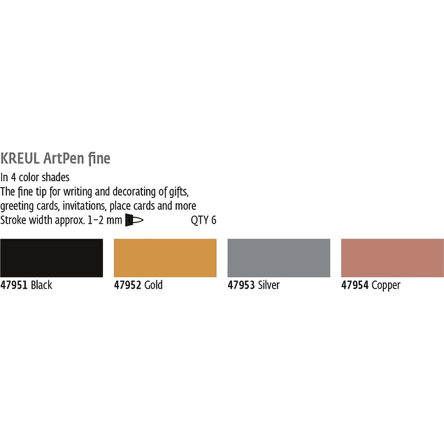 KREUL Art Pen Fino (4 colores)