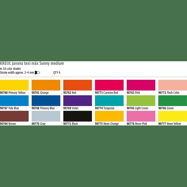 Rotulador para tela - Max Sunny 4mm (18 tonos)