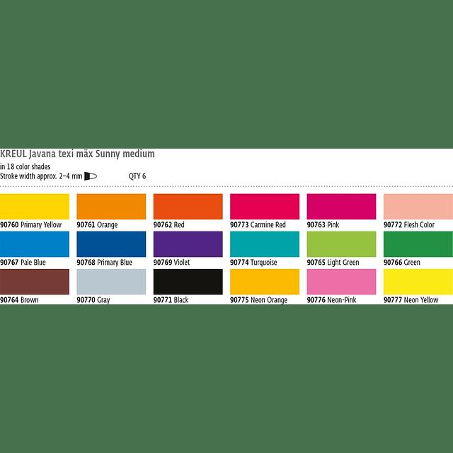 Marcador para Textil y Seda - Max Sunny 4mm (18 tonos)