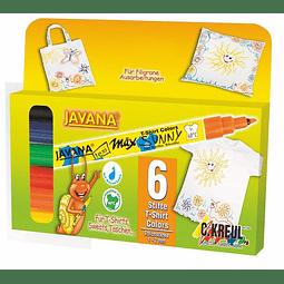 Set Marcador Textil y Seda - Max Sunny Fino - Set Basico
