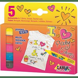 Set de 5 marcadores Fashion para Telas - Wax Sunny