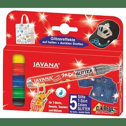 Set 5 Marcadores Textil y Seda - Max Glitter - Colores básicos