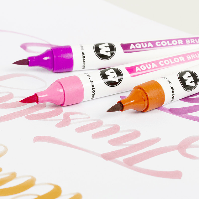 Aqua Color Brush, Tonos Pasteles (venta sin empaque)