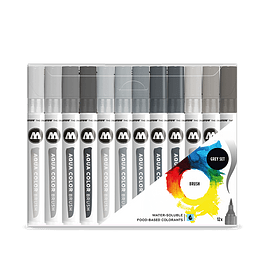 Aqua Color Brush, Tono de grises