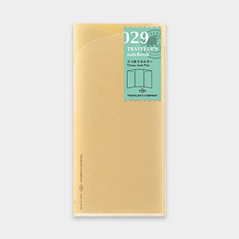 TRAVELER Notebook Refill three-fold file 029
