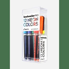 BrushmarkerPRO   12 NEON Colors Set