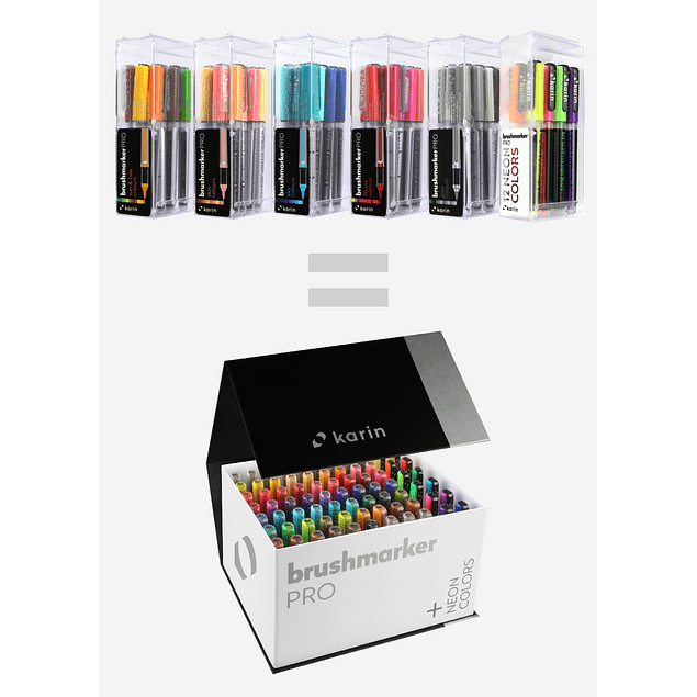 BrushmarkerPRO   MegaBoxPLUS   72 colores + 3 Blenders