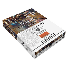 Caja de Cartón Pastel À L'ecu Sennelier 30 Medios Pasteles, Paisaje Urbano