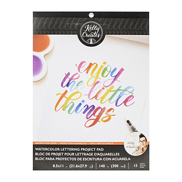 Kelly Creates Watercolour Brush Lettering Paper 21 cm x 28.5 cm - 15 hojas de papel de acuarela en blanco