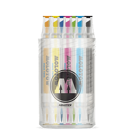 Twin marker Aqua Twin 1mm/2-6mm Pen Box Basic-Set Color 12 pcs.