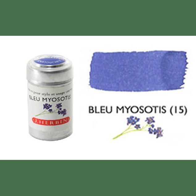 Cilindro con 6 cartuchos de tinta bleu myosotis