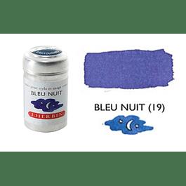 Cilindro con 6 cartuchos de tinta bleu nuit