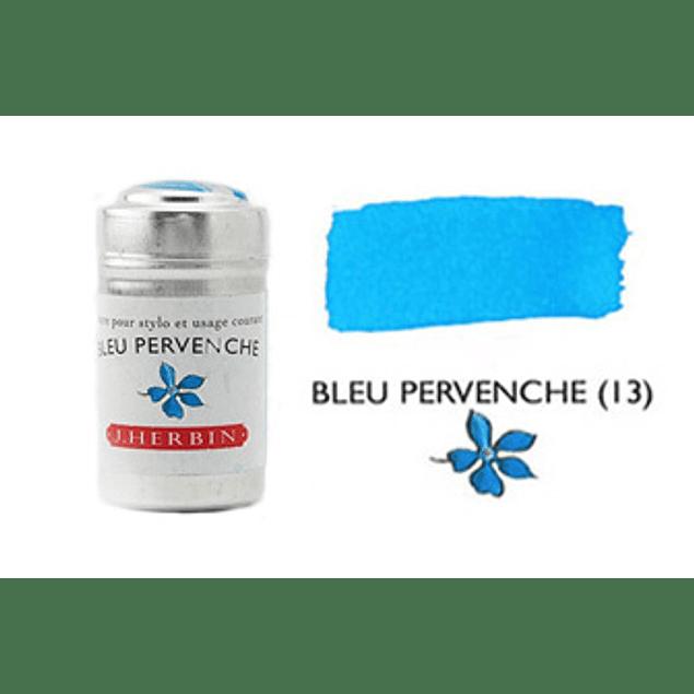 Cilindro con 6 cartuchos de tinta bleu pervenche
