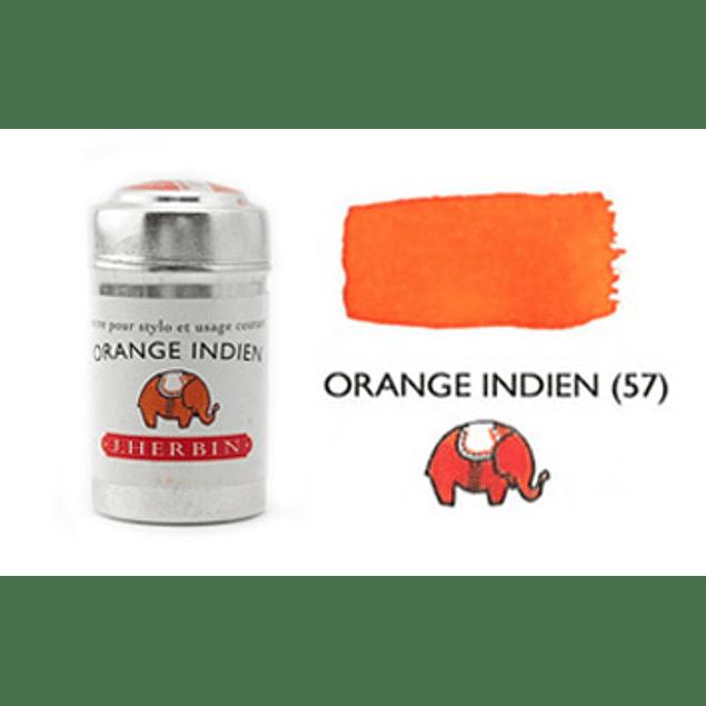 Cilindro con 6 cartuchos de tinta orange indien