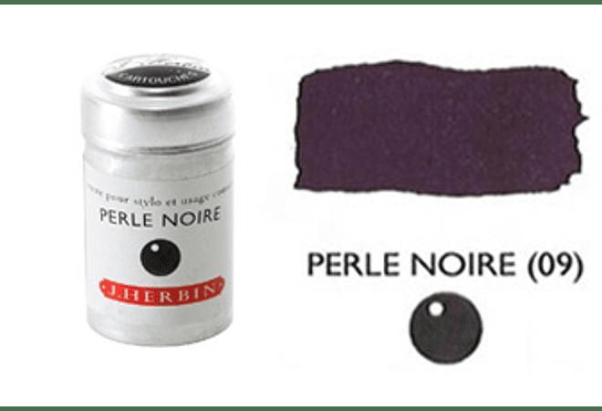 Cilindro con 6 cartuchos de tinta perle noire