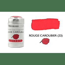 Cilindro con 6 cartuchos de tinta rouge caroubier