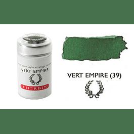 Cilindro con 6 cartuchos de tinta vert empire