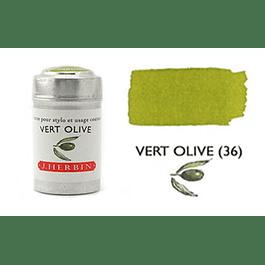 Cilindro con 6 cartuchos de tinta vert olive
