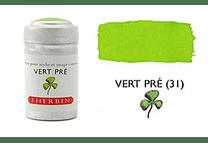 Cilindro con 6 cartuchos de tinta vert pré