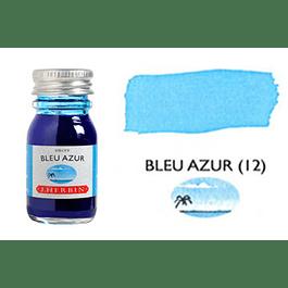 Tinta caligráfica, frasco de 10 ml. bleu azur