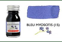 Tinta caligráfica, frasco de 10 ml. bleu myosotis