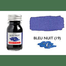 Tinta caligráfica, frasco de 10 ml. bleu nuit