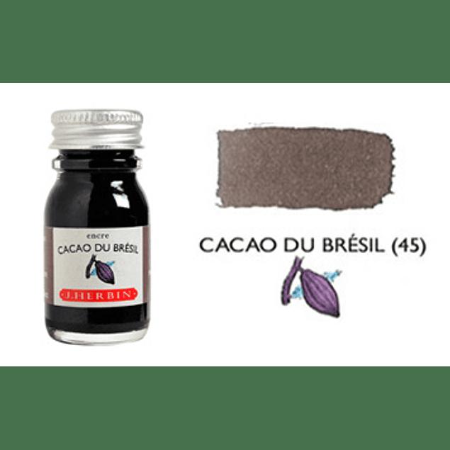Tinta caligráfica, frasco de 10 ml. cacao du brésil