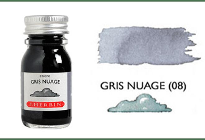 Tinta caligráfica, frasco de 10 ml. gris nauge
