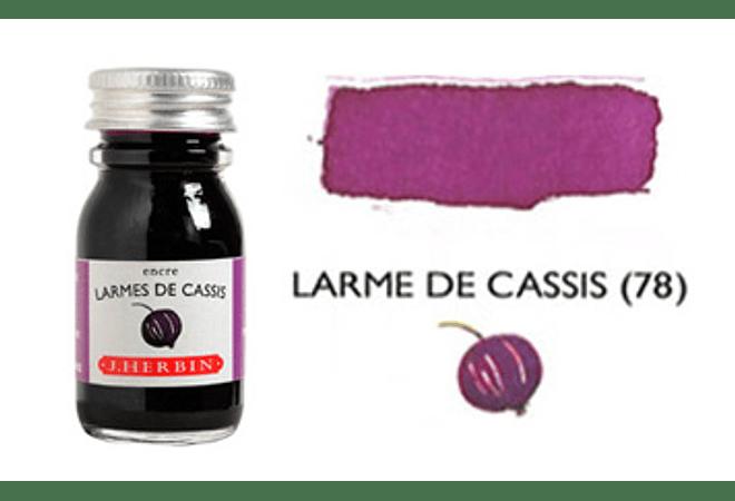 Tinta caligráfica, frasco de 10 ml. larmes de cassis