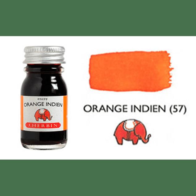 Tinta caligráfica, frasco de 10 ml. orange indien