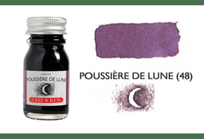 Tinta caligráfica, frasco de 10 ml. poussiere de lune